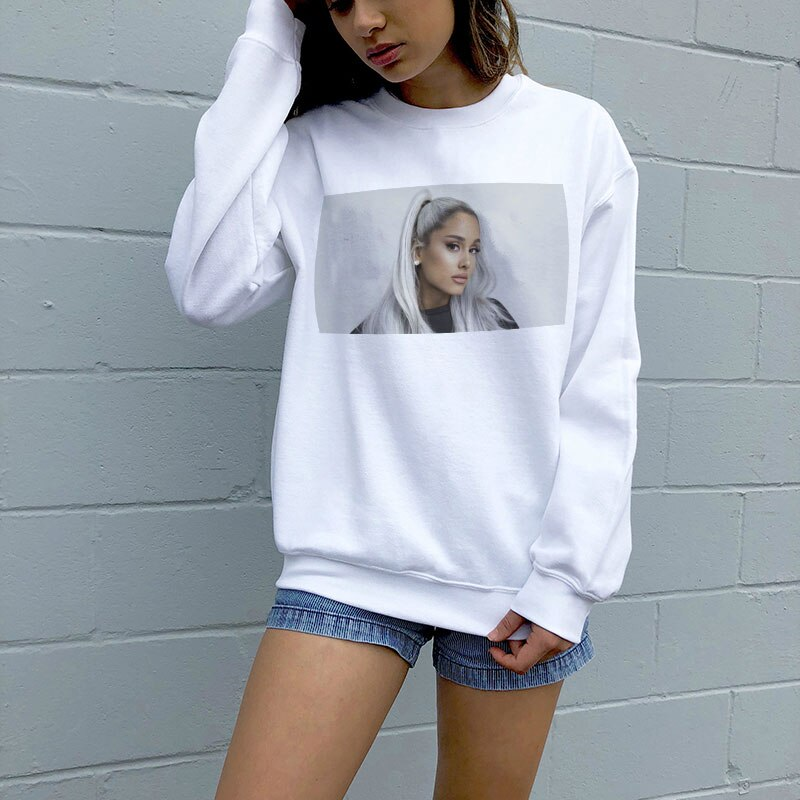 New Vogue Sweatshirt Ariana Grande Sweatshirt No Tears Left To Cry  Streetwear Harajuku Hoodies Leisure Sudadera Mujer