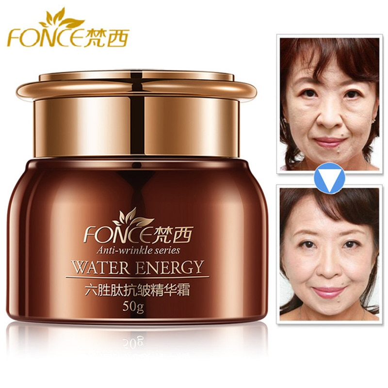 Fonce Korea Anti Aging Wrinkle Remover Face Cream Dry Skin Hydrating Facial Lifting Firming Day Night Cream Peptide Serum 50g