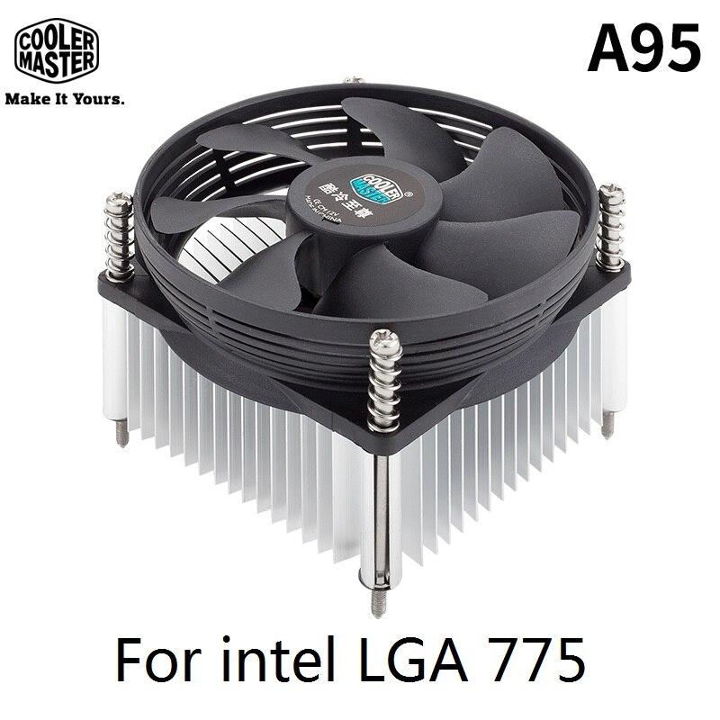 Cooler Master A95 MINI CPU Cooler Radiator 95mm Quiet Fan intel LGA775 Socket dedicated Cooler