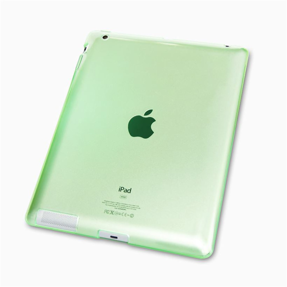 TPU de lujo Ultra suave funda transparente de gel para Apple iPad 2/3/4 A1395 A1396 A1397 A1416 A1430 A1403 A1458 A1459 A1460