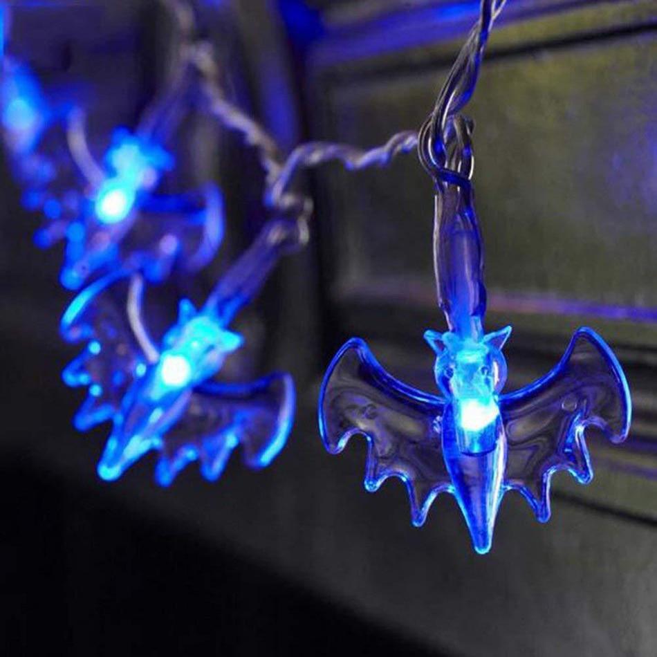 Хэллоуин призрак, летучая мышь, тыква свет украшения, Хэллоуин партии DIY светодиодные гирлянды украшения 2 м 20 светодиодов, АА батарейках