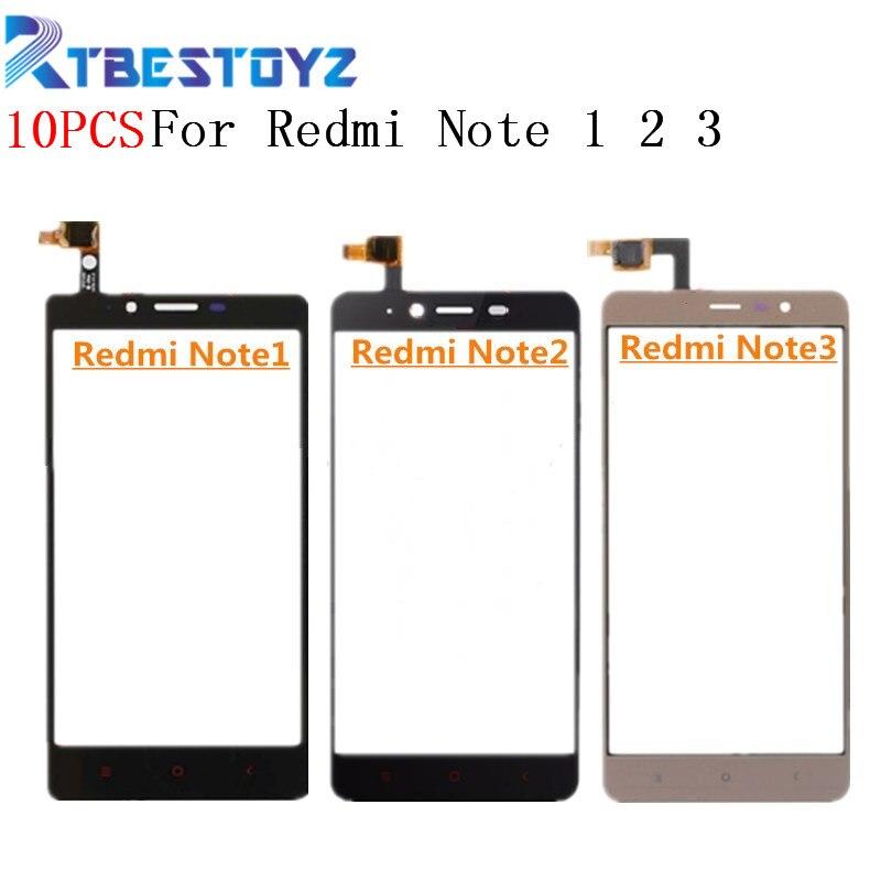 10 pçs/lote 5.5 Peças de Reposição Para Xiaomi Redmi Nota 1 2 3 Note2 Note3 Digitador Da Tela de Toque Sensor Exterior painel de Lente de vidro