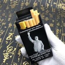 2019 neue Alalinong Russland Aluminium Legierung Zigarette Fall Joseph Stalin Lenin Männlichen Metall Zigarette Box Laser Gravierte Für Immer