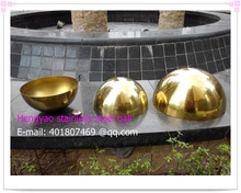 75 mm diameter, 201 stainless steel gold hemisphere, hollow hemisphere, metope adornment,plating titanium