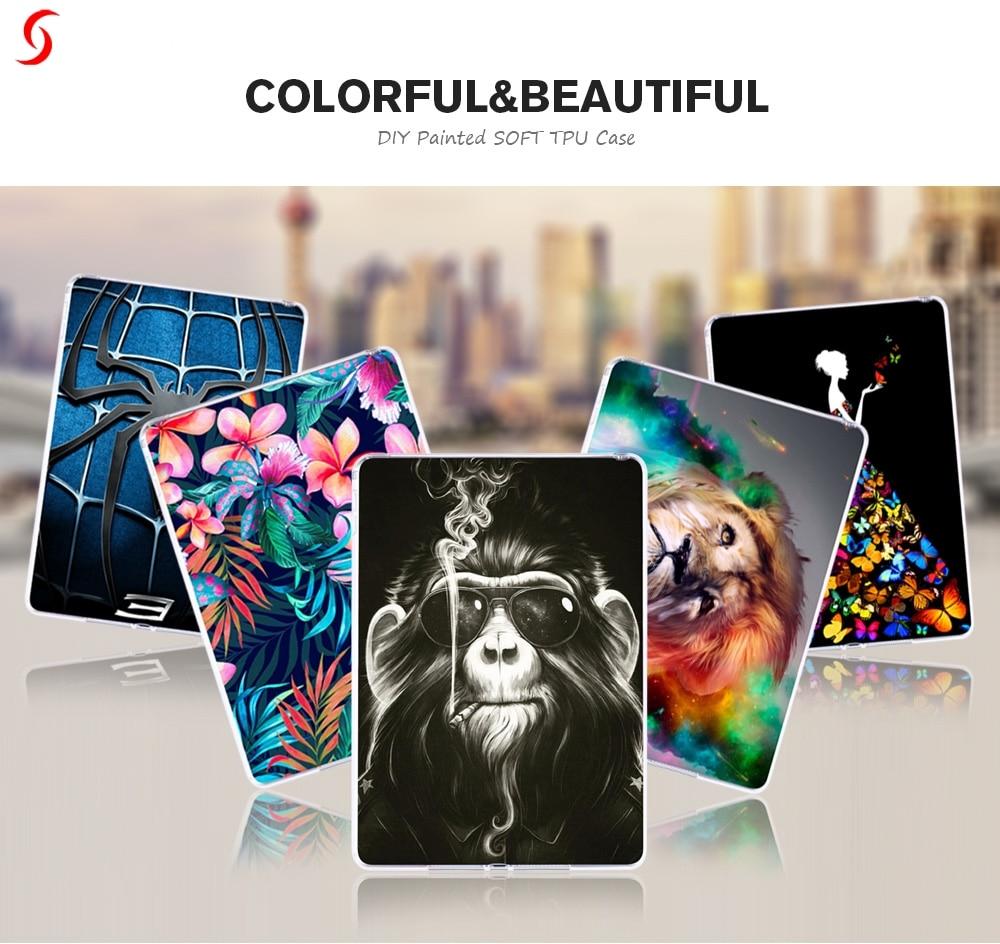 Fundas para tabletas de silicona para Huawei MediaPad T3 8,0 Honor Play Pad 2 KOB-L09 KOB-W09 de 8,0 pulgadas suave TPU DIY funda única para libros electrónicos