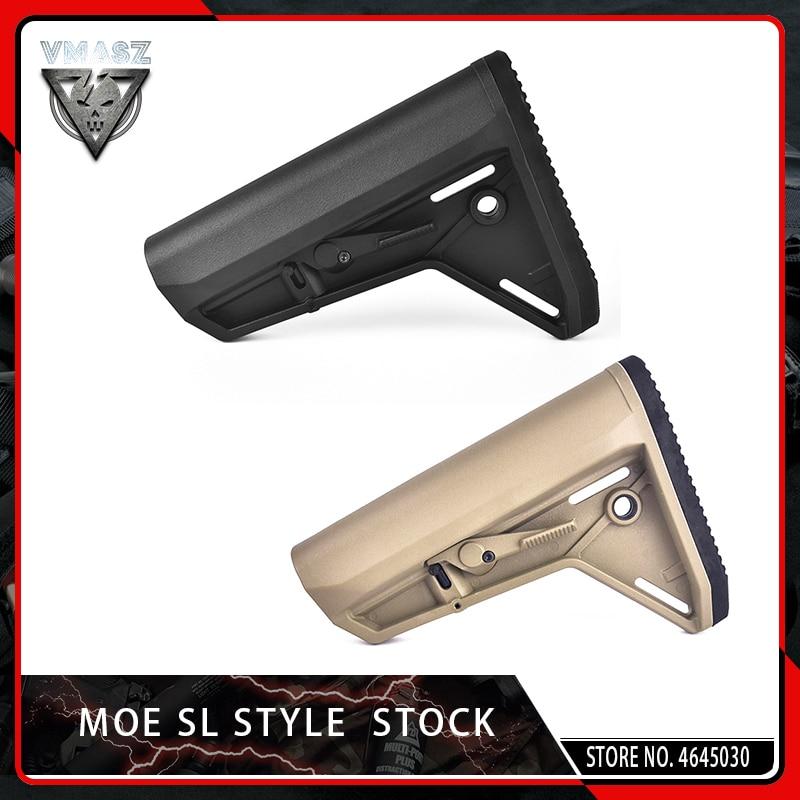 VMASZ MOE Stock SL-K Style for Airsoft AEG M4A1 Gel Blaster Gearbox Gen8 Jinming9 JIQU Carbine AR15/M4 Paintball Accessory