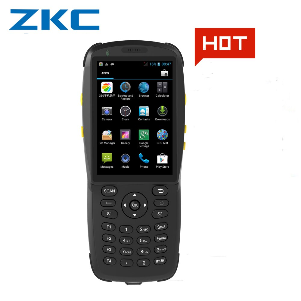 PDA Android handheld terminal Laser barcode scanner 1d laser 2d QR tragbare daten sammler terminal gerät mit WIFI NFC/HF