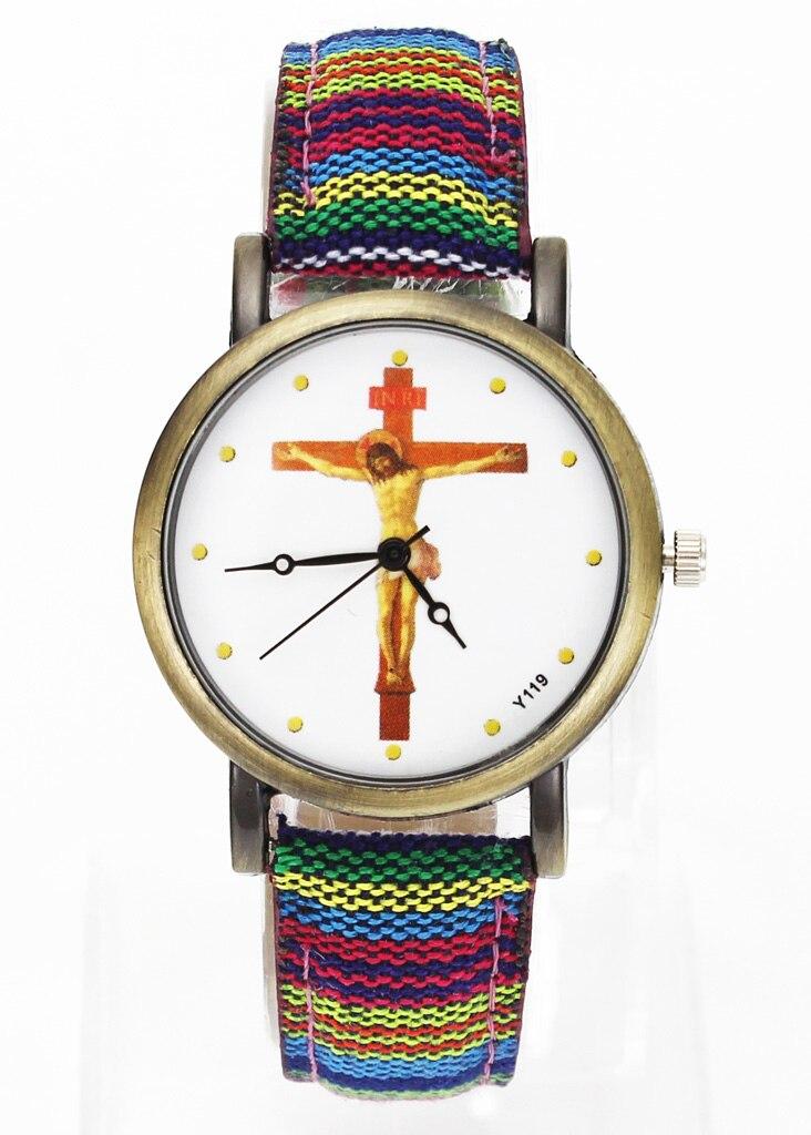 Наручные часы с крестом на тему распятия Иисуса Христа