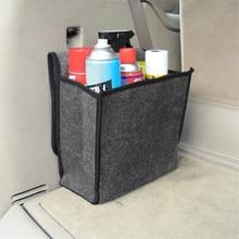 Soft Woolen Felt Car Trunk Organizer Car Storage Box Bag Fireproof Stowing Tidying Package Blanket Tool 30*16*29cm