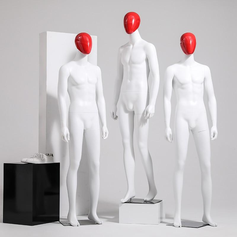 Nuevo estilo, maniquí de fibra de vidrio de cuerpo completo para hombres de Color blanco, modelo masculino, venta directa del fabricante