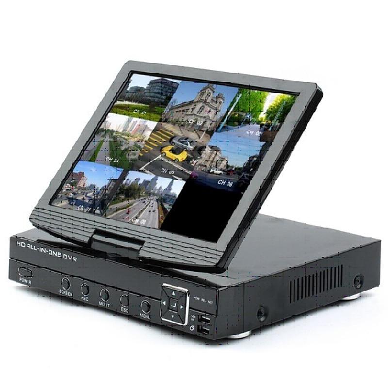8ch 3-in-1 Analog AHD Digital Video Recorder (DVR) und ONVIF 1080 p Netzwerk Video Recorder (NVR) mit 10,1 zoll TFT LCD Bildschirm