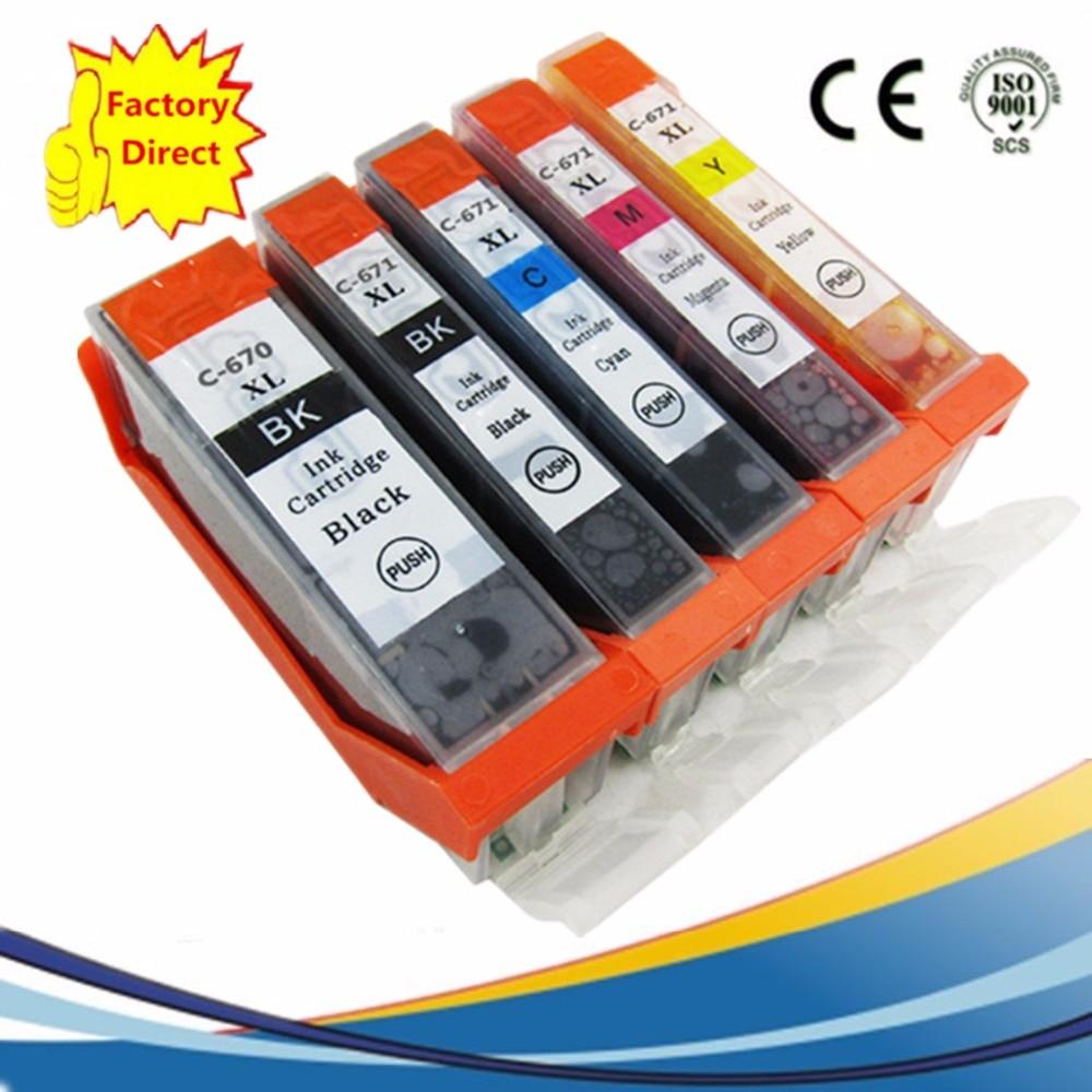 PGI 670 PGI-670 PGI670 PGI-670XL, reemplazo de cartuchos de tinta de PGI-670BK para Pixma MG5760 MG5765 MG5766 MG6860 MG6865 MG7760