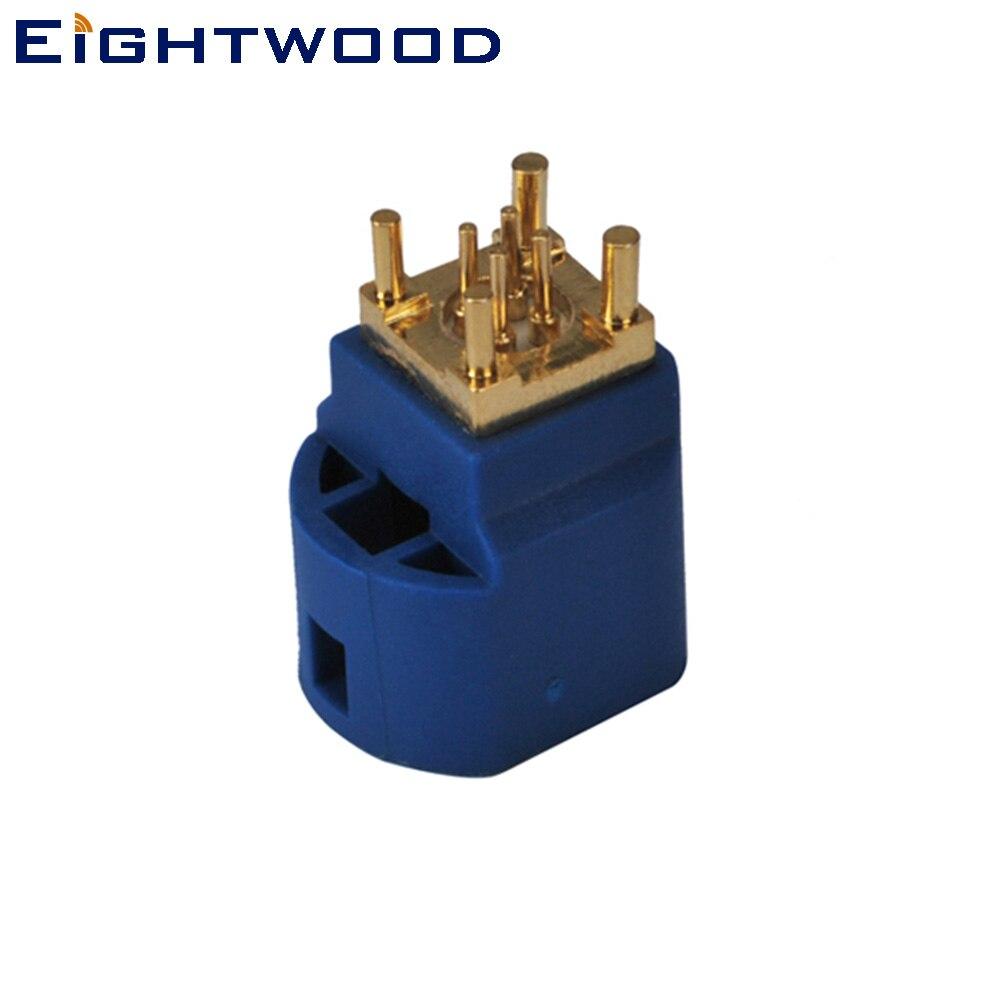 Eightwood 5 uds GPS para coche antena receptor conector Fakra HSD código LVDS C Jack montaje en PCB 4 Pin de contacto para Pioneer JVC Kenwood