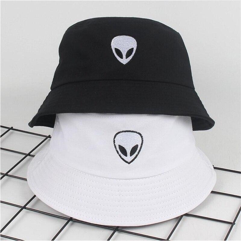 Sombrero de pescador de estilo sencillo con bordado ET extraterrestre, sombrero de pescador para turismo en la playa y en la calle, gorra divertida para conductor F05