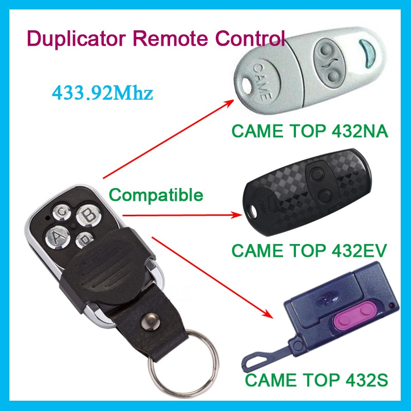 Копия пришла TOP432NA 434NA Дубликатор 433,92 МГц пульт дистанционного управления ворота гаража Fob Дистанционное клонирование 433 МГц передатчик