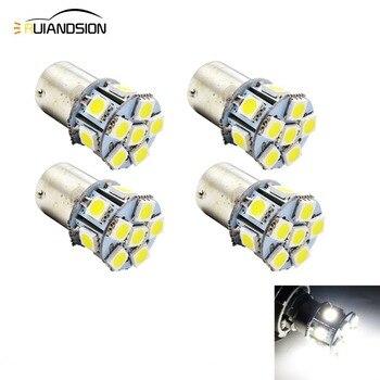 4pcs Super Bright White 5050 LED 12 SMD DC 6V 12V 24V 1156 BA15S BAU15S led light Turn LED S25 P21W Backup Reverse Light Bulb