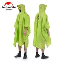 Naturehike outdoor raincoat 3 in 1 다기능 레인 판초 방수 휴대용 매트 텐트 하이킹 여행 캠핑 낚시 사용