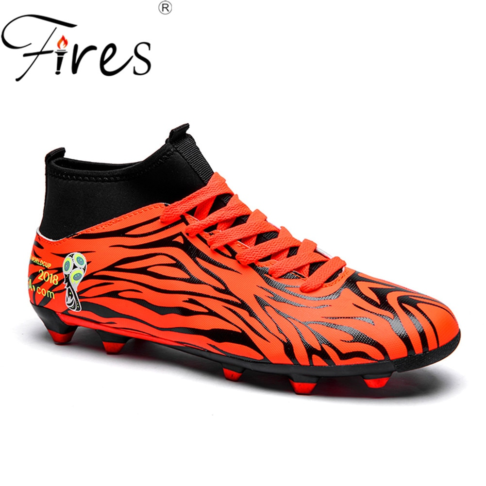 Zapatos de fútbol al aire libre respirables Chuteira fútbol de alta calidad 2018, zapatos de fútbol para hombres, botas largas de fútbol para niños