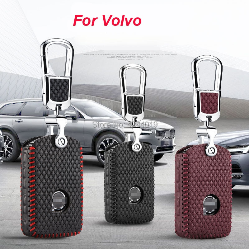 LLavero de cadena y anillo para coche LUCKEASY, llavero, cubierta Central para Volvo V90 S90