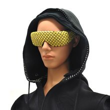 Zonnebril Mannen Steampunk Goggles Deal met Het Glazen Oculos Masculino Ongezien Punten Zon Dame Mode Punk Metalen Handgemaakte Wrap