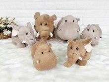 GGS 20cm 30cm Fluffy super soft Wedding gift plush toys Lovely small Hippos&Elephant  Plush toy Doll Xmas kids Childrens Gift