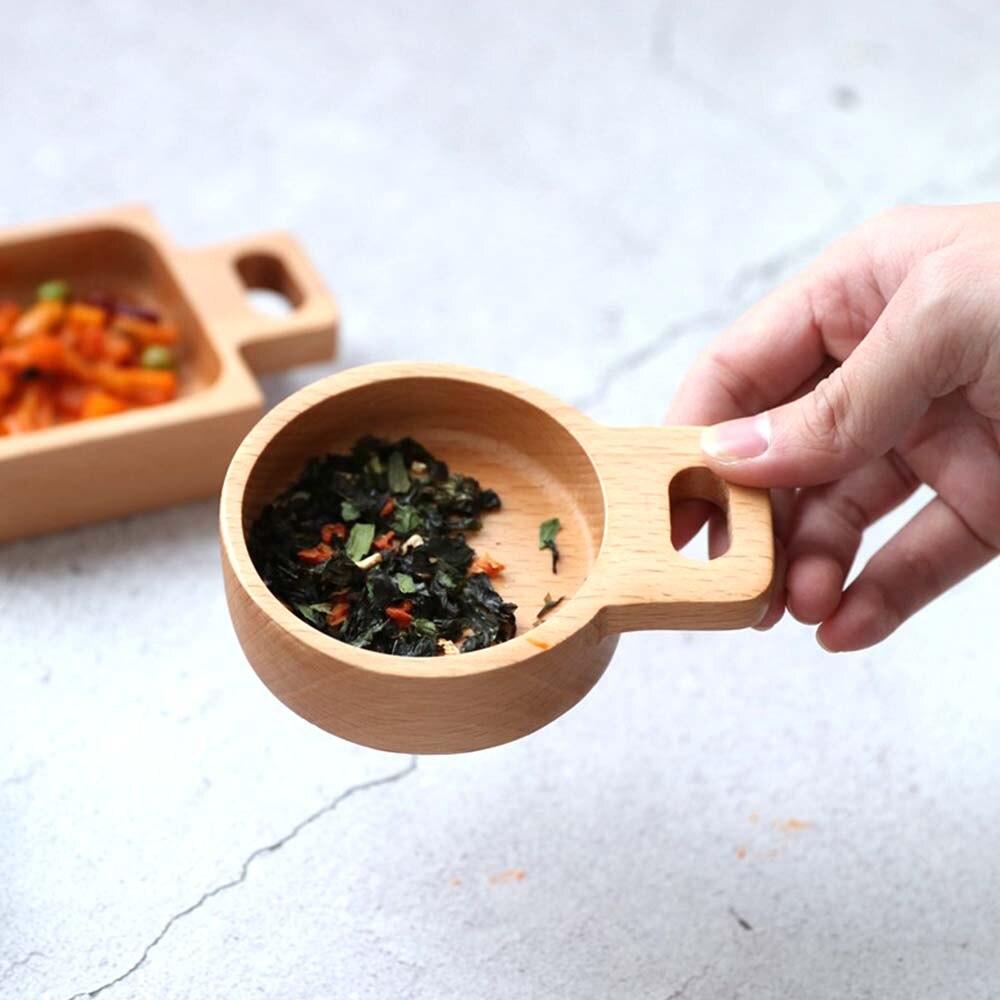 Mini platos especiales de 11CM, plato de madera para aperitivos, frutos secos, postres, ensalada, salsa de madera, Plato cuadrado redondo para decoración del hogar