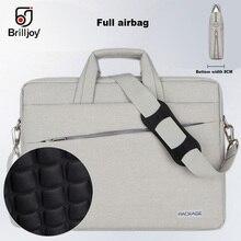 Brilljoy High quality briefcase Messenger Bag Laptop Handbag for 13 14 15 Inch Computer Bussiness Travel Men and Women Notebook