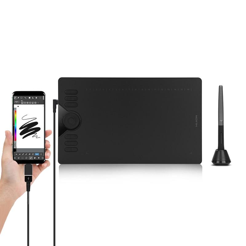 HUION HS610 Grafik Tabletten Digitalen Stift Tablet Telefon Zeichnung Tablet mit Tilt OTG Batterie-Freies Stylus für Android Windows macOS
