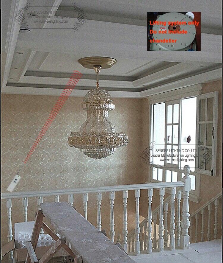 DDJ50-4M sistema bajada de control remoto, sistema de iluminación de cristal, lámpara de elevación, 110-120 V, 220-240V