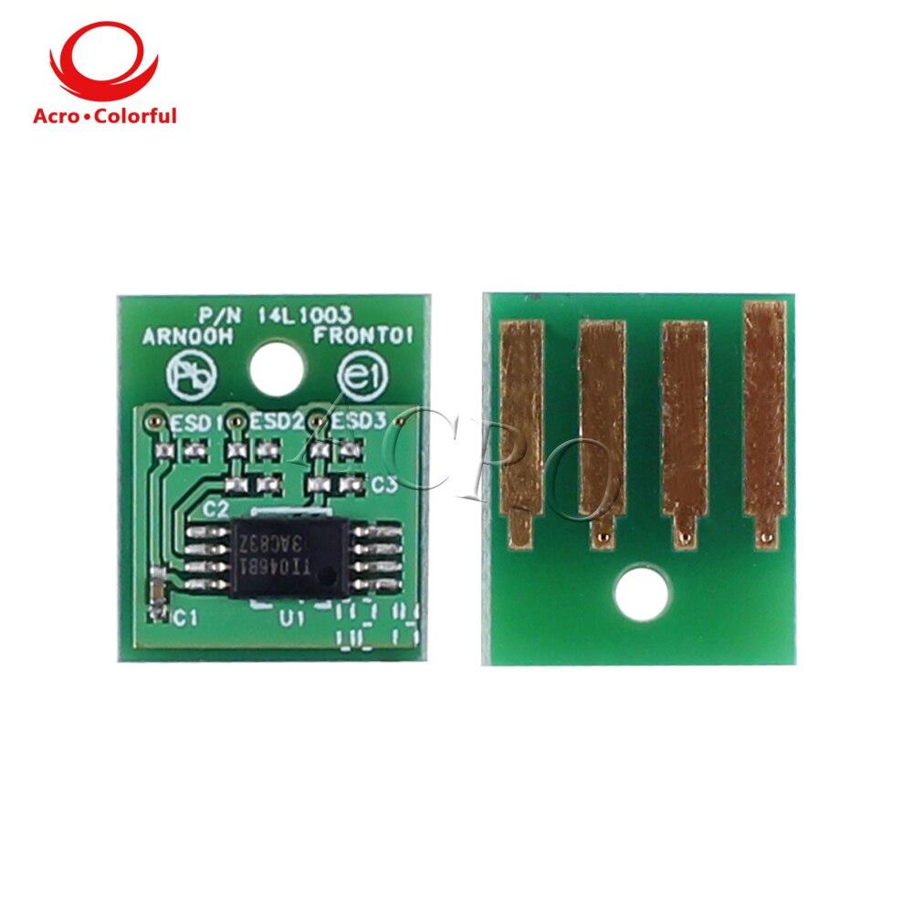 25 K 52D5H00 525 H chip de Toner para Lexmark MS710 MS810 MS811 MS812 Oriente médio/África toner de impressora a laser cartucho de recarga