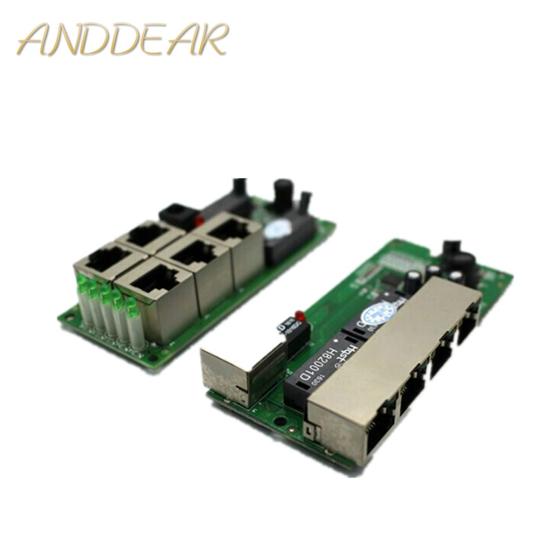 high quality mini cheap price 5 port switch module manufaturer company PCB board 5 ports ethernet network switches module enlarge
