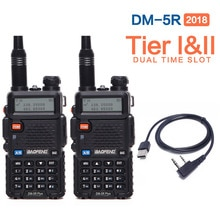 2Pcs Baofeng DM-5R PLUS DMR TierII VFO Analog & Digital Tier I & II Dual Band Walkie Talkie Ham Radio Support Repeater Motorola