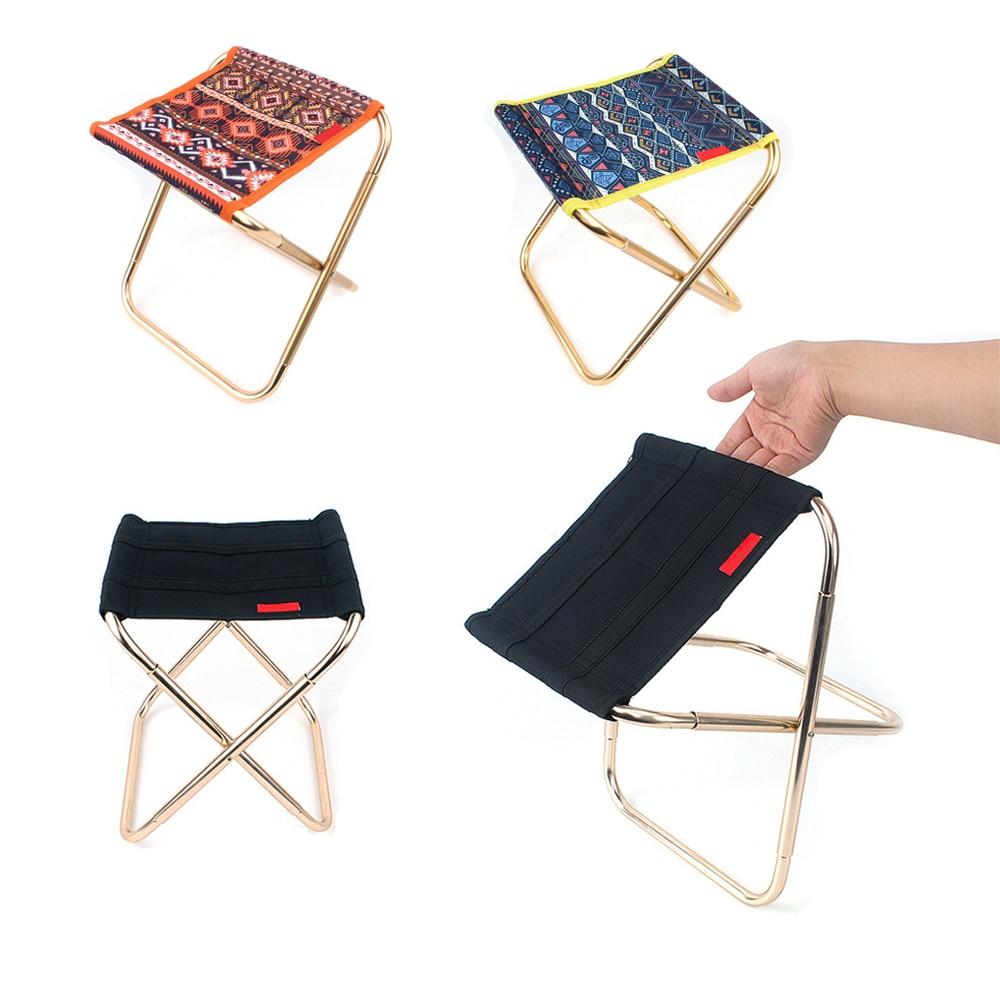 Mini silla plegable Oxford estampada, bolsa de almacenamiento portátil con ligero banco de asiento, utensilios para pícnic para acampar al aire libre y pescar