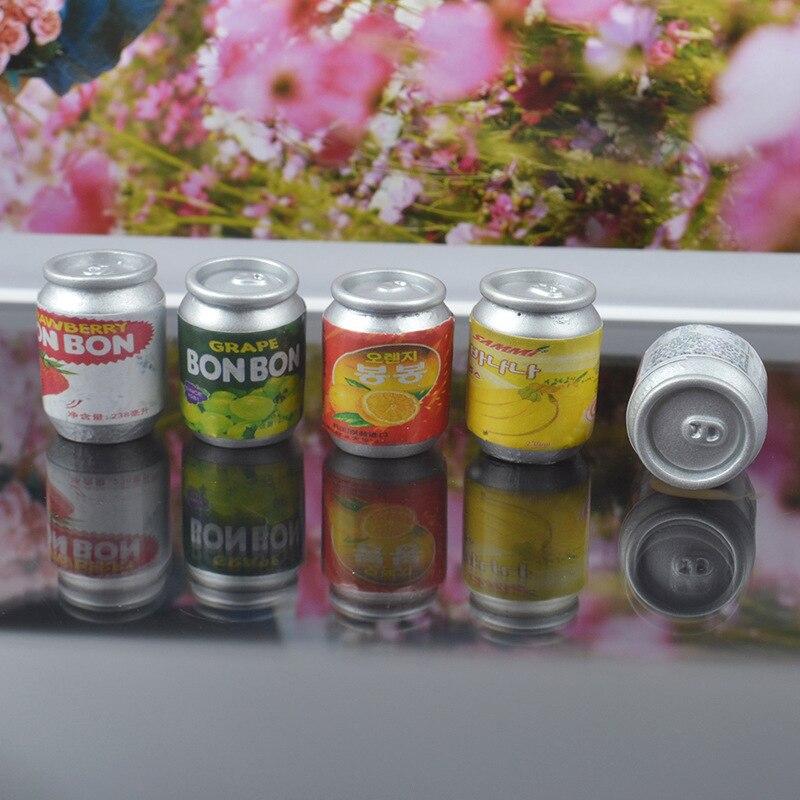 Lote de 8 Uds. De abalorios de baba de polímero para latas de bebidas coreanas, Accesorios de plastilina para modelado de arcilla Lizun para niños, relleno de suministros de masa viscosa