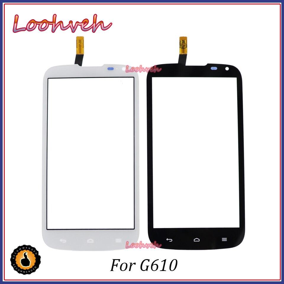 "Alta calidad 5,0 ""para Huawei G610 C8815 pantalla táctil digitalizador cristal frontal lente Sensor Panel"