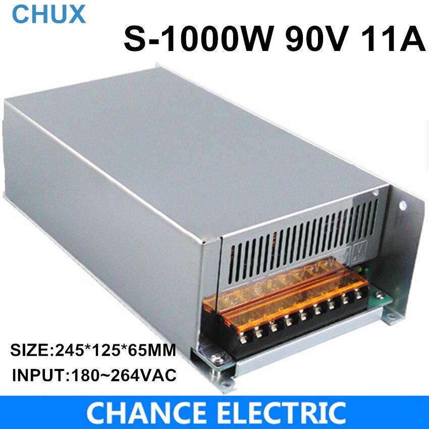 1000 W 90 V ajustable 11A fuente de alimentación de conmutación de salida única CA a CC 110 V o 220 V