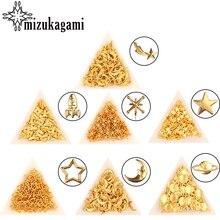 50 pcs/lot alliage charmes or univers étoile & lune métal matériel pour bricolage époxy moule faire remplissage bijoux