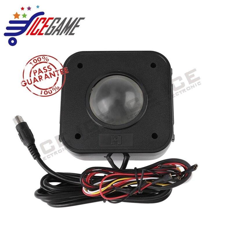Beleuchtet 4,5 cm Runde LED Trackball Maus PS/2 PCB Stecker Für Arcade