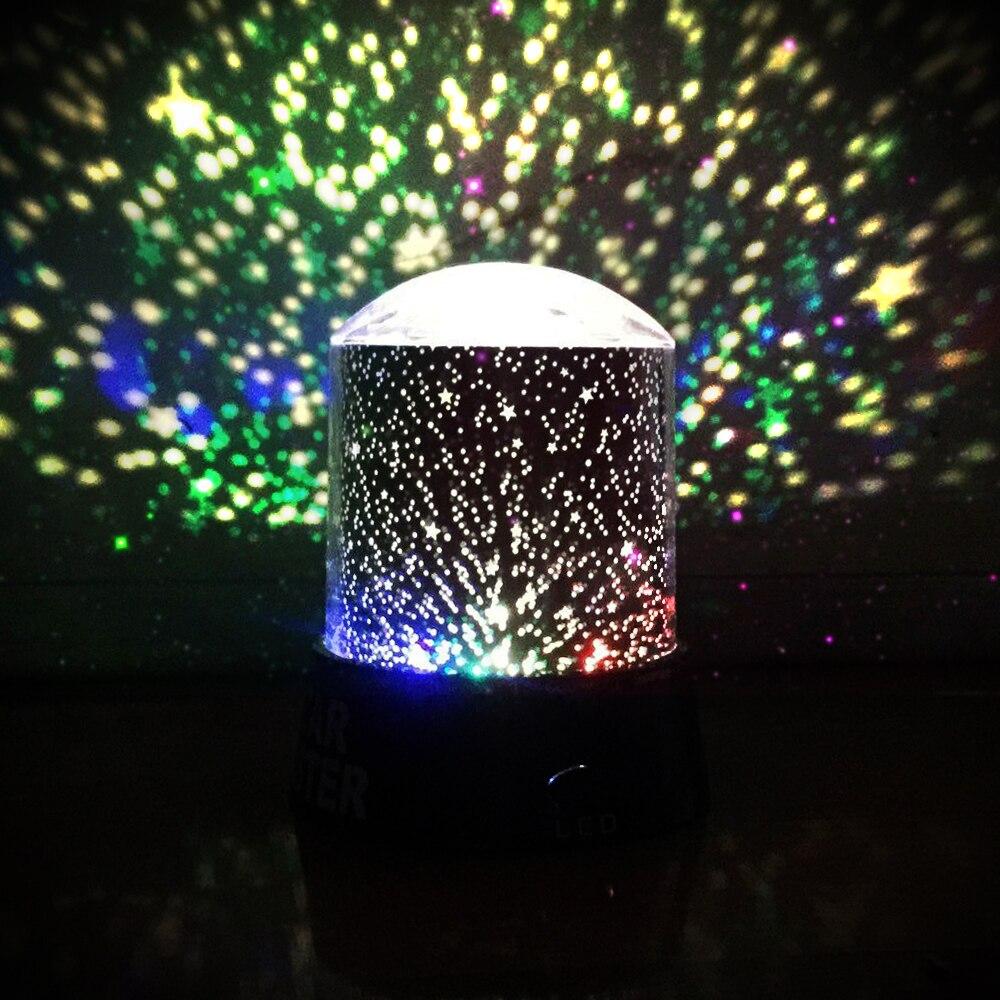 Jiguoor DG-SNL Surpreendente Night Light Crianças Lâmpada Cosmos Céu Estrela Colorida A Laser Projector Lamp Night Light Preto