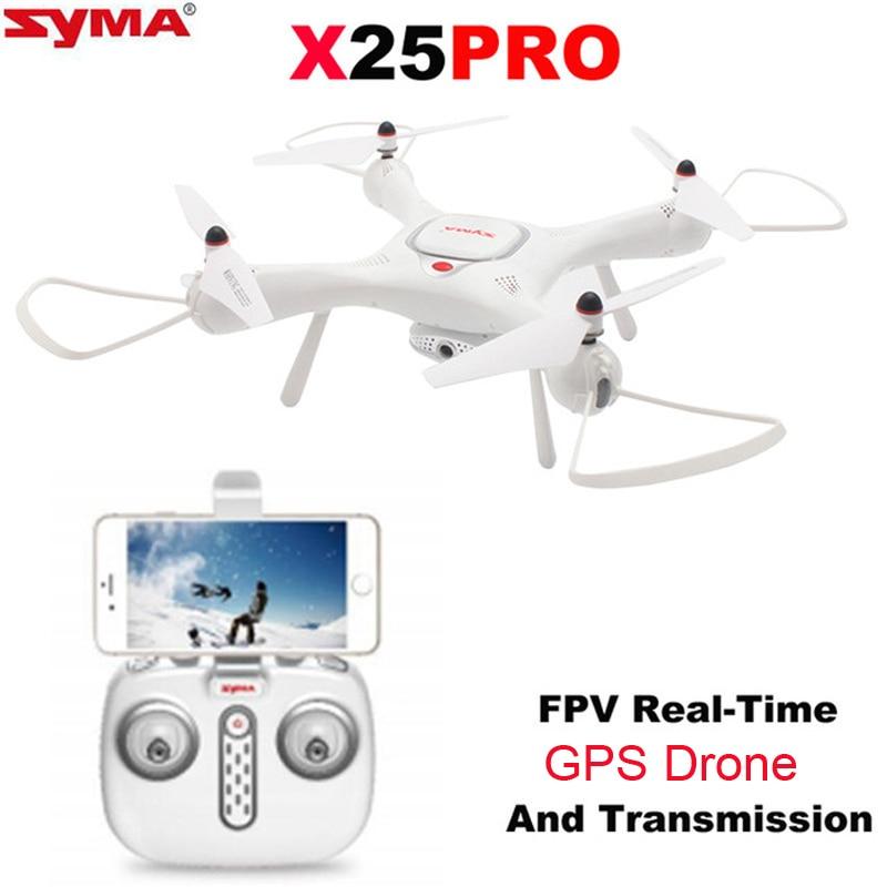 Syma X25PRO RC Drone FPV 720P HD Adjustable Camera Wifi GPS Drone Altitude Hold RC Quadcopter Phone App Control