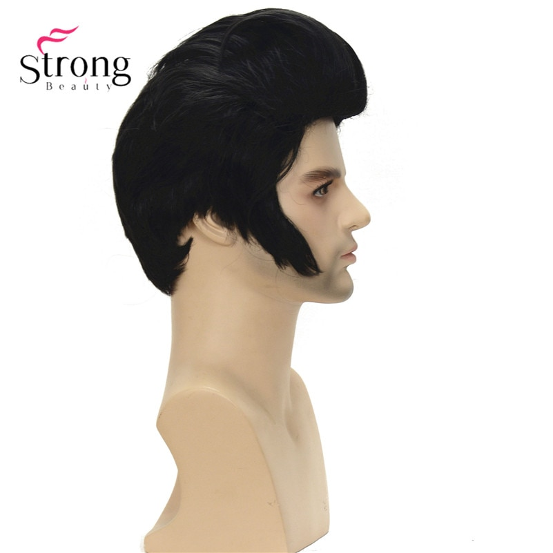 Black Short Cosplay Wig Resistant Synthetic costume Hair Wigs for men