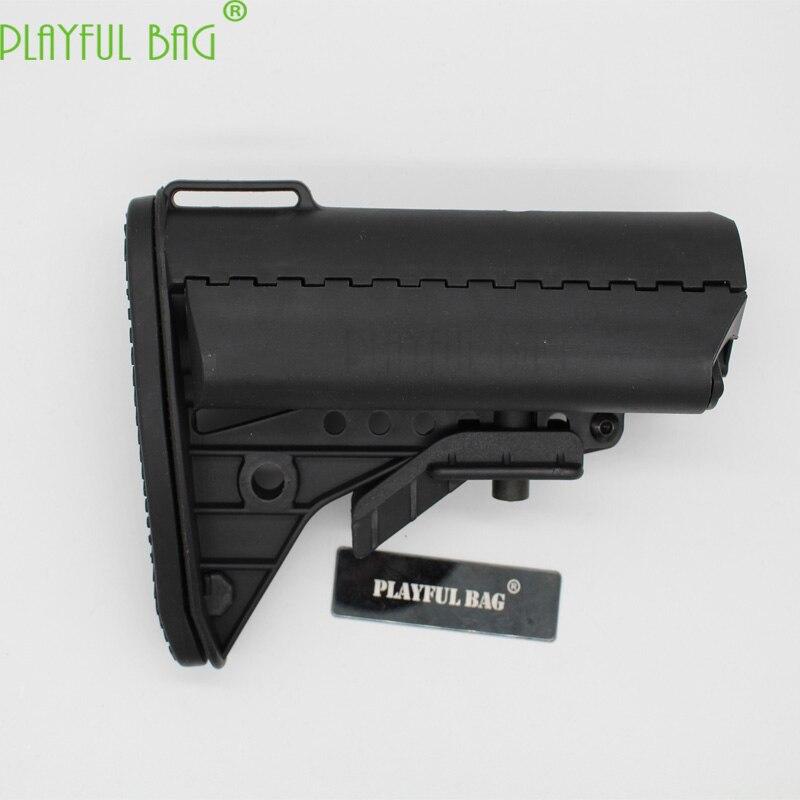 Adulto presente arma de brinquedo acessórios butt náilon butt m4 gel bola blaster arma náilon post vltorplay traseira ar15 acessórios táticos ki15