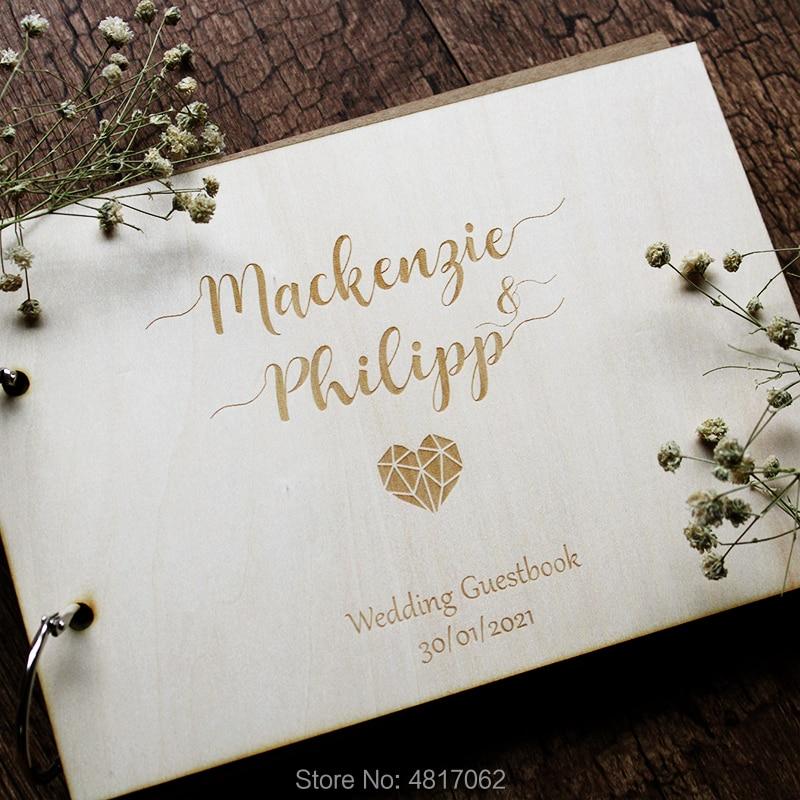 Libro de Visitas de madera, libro de invitados moderno, libro de invitados personalizado, libro de invitados de madera álbum de fotos de boda moderno, invitado de boda de madera