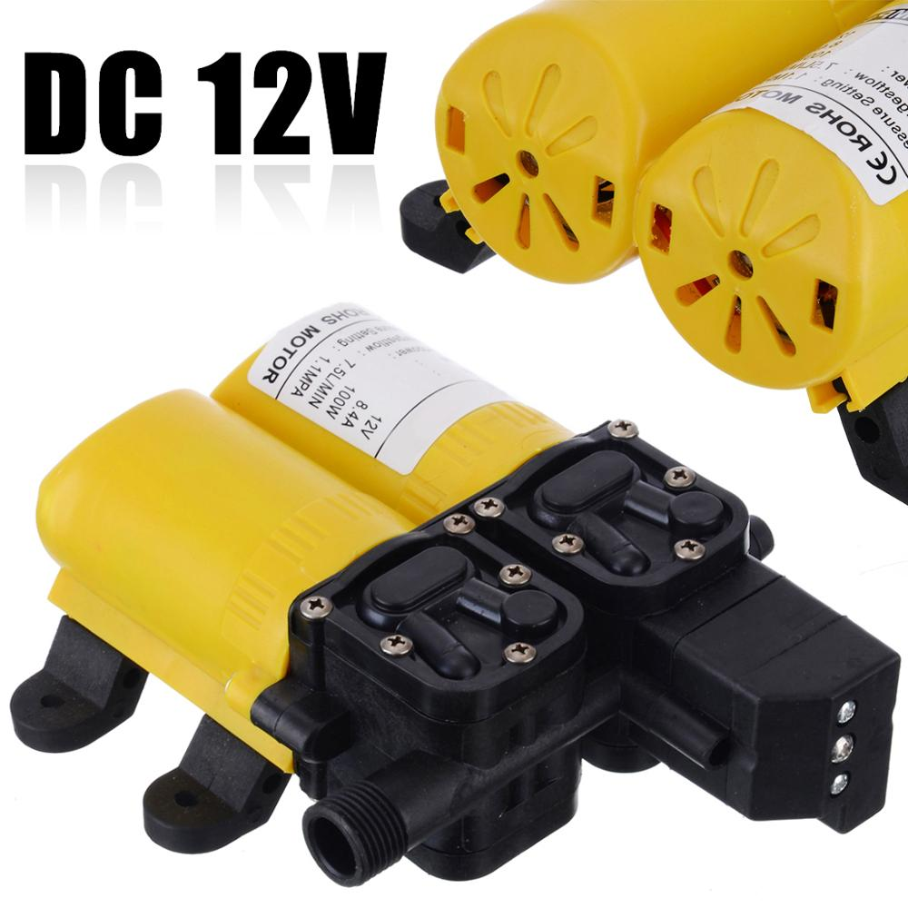 Auto High Pressure Diaphragm Water Pump DC 12V 80W Electric Water Pump for Boat Caravan Marine Motor Pumps Parts