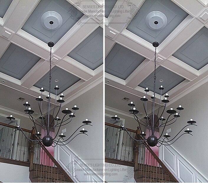رافع ضوء مع مفتاح حائط وجهاز تحكم عن بعد ، نظام رفع ، 50 كجم ، كابل 10 م