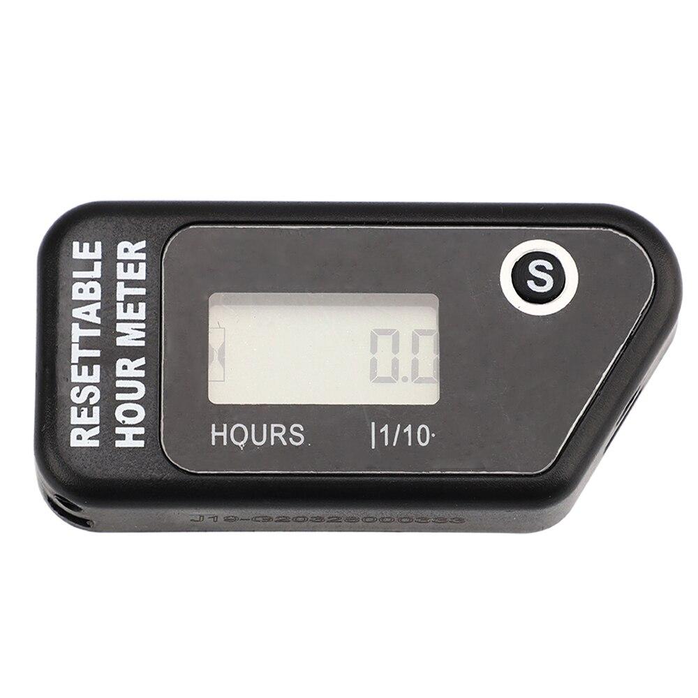 Universal Tacômetro Indutivo Hour Meter Para Motocicleta ATV Da Bicicleta Da Sujeira cortador de Grama Máquina Equipamento YC101470