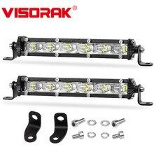 "VISORAK 7"" 30W 4D 5D Slim Motorcycle LED Work Light Bar Offroad LED Signal Light For 4X4 4WD Jeep Truck ATV UTV SUV Motorcycle"