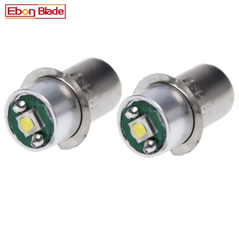 2PCS P13.5S Base PR2 PR3 LED Upgrade Bulb for Maglite Replacement Bulbs Led Conversion Kit for C/D Flashlights Torch 3V-18V DC