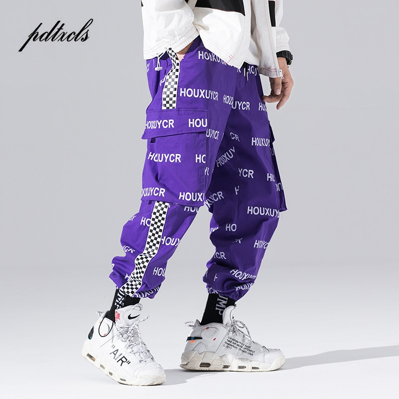 Nueva llegada Harajuku estilo japonés carta impresa de moda de los hombres de Jogger pantalones Hip Hop Casual de otoño pantalones de harem para hombre