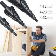 3 pièces 4-32mm 4-20mm 4-12mm HSS Hex titane spirale rainurée étape foret Kit Cobalt métal trou Cutter haute qualité outils électriques